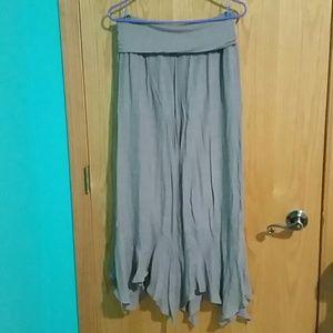 Tan Apt. 9 Maxi Skirt w/ Zig Zag Hem